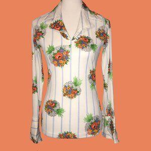 Elite Vintage Floral Top - Size 12